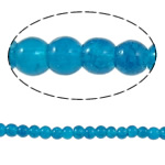 Glass Beads kërcitje, Xham, Round, asnjë, Ngjyrë gurkali, 4mm, : 1mm, : 31.4Inç, 10Fillesat/Qese,  Qese