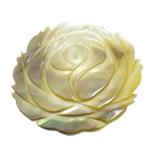 Pendants Natyrore Zi Shell, Lule, Gdhendur, asnjë, asnjë, 39x39.50x2.20mm, : 2mm, 10PC/Shumë,  Shumë