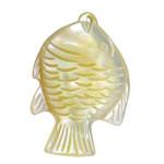 Pendants Natyrore Shell Verdha, Peshk, Gdhendur, asnjë, asnjë, 22x32x7mm, : 1mm, 5PC/Shumë,  Shumë