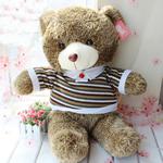 Teddy Bear Toy, Velveteen, punuar me dorë, ngjyrë kafe, 110cm,  PC