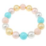 Jug Deti Shell Bracelets, Shape Tjera, sintetik, asnjë, multi-colored, 12mm, :7.5Inç, 12Fillesat/Qese,  Qese