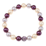 Jug Deti Shell Bracelets, Shape Tjera, sintetik, asnjë, multi-colored, 8mm, :7.5Inç, 12Fillesat/Qese,  Qese