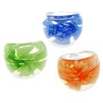 Ring Finger lampwork, Shape Tjera, asnjë, lule e brendshme, ngjyra të përziera, 29x24x7.50mm, :9, 50PC/Qese,  Qese