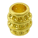 Alloy zink, Daulle, ngjyrë ari praruar, asnjë, asnjë, , nikel çojë \x26amp; kadmium falas, 10.50x10.50x12mm, : 6mm, : 1mm, 100PC/Qese,  Qese