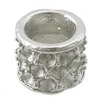 Alloy zink, Kolonë, ngjyrë platin praruar, asnjë, asnjë, , nikel çojë \x26amp; kadmium falas, 11.50x11.50x9.50mm, : 6mm, : 2mm, 100PC/Qese,  Qese