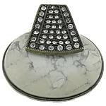 Varëse Bruz, Bruz Natyrore, with Tunxh, Oval Flat, Ngjyra antike bronz i praruar, me diamant i rremë, asnjë, 42x43x14mm, : 7.5x6mm, 20PC/Shumë,  Shumë
