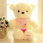Teddy Bear Toy, Velveteen, punuar me dorë, bezh, 100cm,  PC