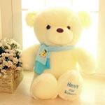 Teddy Bear Toy, Velveteen, punuar me dorë, bezh, 65cm,  PC