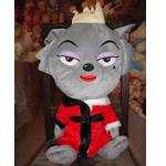 Teddy Bear Toy, Velveteen, Ujk, punuar me dorë, gri, 30cm,  PC