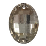 Imitim Swarovski Crystal Beads, Kristal, Oval, gjysmë-kromuar, asnjë, Champagne Gold, 23.50x32x10mm, : 2mm, 10PC/Qese,  Qese