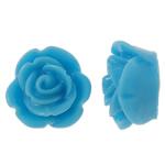 Rrëshirë Cabochon, Lule, asnjë, layered, blu, 14x14x8mm, 200PC/Qese,  Qese