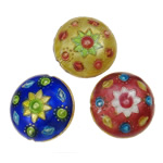 Beads Smooth Cloisonne, Round Flat, 21.50x11.50mm, : 1mm, 20PC/Qese,  Qese