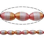 Beads dorë Lampwork, Oval, brushwork, asnjë, multi-colored, 13x8mm, : 1.5mm, 10PC/Shumë,  Shumë