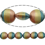 Beads dorë Lampwork, Round Flat, brushwork, me gunga, multi-colored, 16x16x9mm, : 2mm, 10PC/Shumë,  Shumë