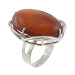 Agat unazë gishti, Red agat, with Tunxh, Shape Tjera, ngjyrë platin praruar, asnjë, 22x27.80x10.80mm, :6.5, 20PC/Shumë,  Shumë