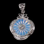 Deti Pendants opal, Deti Opal, with Tunxh, Shape Tjera, ngjyrë platin praruar, asnjë, asnjë, 22x30x17mm, : 4.5x6.5mm, 20PC/Shumë,  Shumë