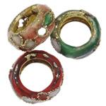 Beads filigran Cloisonne, Petull e ëmbël në formë gjevreku, i përzier, 11x5mm, : 1.5mm, 100PC/Qese,  Qese