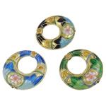Pendants Cloisonne, Petull e ëmbël në formë gjevreku, i përzier, 27x7mm, : 2mm, 20PC/Qese,  Qese