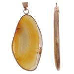 Agat pendants bizhuteri, Agat Verdha, Nuggets, natyror, asnjë, 31x64x5mm, : 5x8mm, 20PC/Shumë,  Shumë
