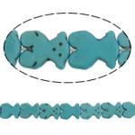 Bruz Beads, Bruz sintetike, Bear, natyror, asnjë, dritë blu, 15x19x4mm, : 1.5mm, : 15.7Inç, 22PC/Fije floku,  15.7Inç,