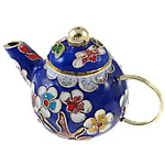 Cloisonne Decoration, Teapot, 76x49.5x43mm, Sold by PC