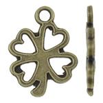 Pendants Zink Alloy Leaf, Alloy zink, Gjethe, Ngjyra antike bronz i praruar, asnjë, asnjë, , nikel çojë \x26amp; kadmium falas, 12x16x1.50mm, : 2mm, 2000PC/KG,  KG