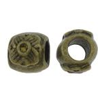 Beads Zink Alloy Vendosja, Alloy zink, Daulle, Ngjyra antike bronz i praruar, asnjë, asnjë, , nikel çojë \x26amp; kadmium falas, 10x9x11mm, : 4.5mm, 200PC/Qese,  Qese
