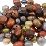 Barok Beads kulturuar Pearl ujërave të ëmbla, Pearl kulturuar ujërave të ëmbla, Nuggets, i lyer, ngjyra të përziera, 4-8mm, : 0.8mm,  KG