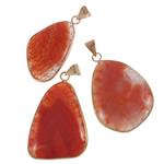 Pendants Red agat, Shape përziera, natyror, asnjë, 27.5-43mm, : 5-8mm, 20PC/Shumë,  Shumë