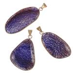 Agat pendants bizhuteri, Purple agat, Shape përziera, natyror, asnjë, 29-40.5mm, : 5-8mm, 20PC/Shumë,  Shumë