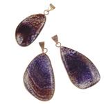 Agat pendants bizhuteri, Purple agat, Shape përziera, natyror, asnjë, 23-32mm, : 5-8mm, 20PC/Shumë,  Shumë