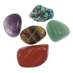 Beads kuarc bizhuteri, Kuarc Natyrore, Shape përziera, asnjë, nuk ka vrimë, 11-16mm, : 3mm, 305PC/KG,  KG