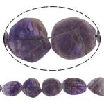 Beads kuarc bizhuteri, Ametist, Oval, natyror, asnjë, 32-41.5mm, : 2mm, :15.7Inç, 5Fillesat/Shumë,  Shumë