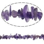 Beads kuarc bizhuteri, Ametist, Nuggets, natyror, asnjë, 5-11.5mm, : 1mm, :15.3Inç, 5Fillesat/Shumë,  Shumë