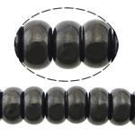 Beads bizhuteri gur i çmuar, Qymyrit kuarc Stone, Rondelle, asnjë, asnjë, 6x10mm, : 1mm, :16Inç, 5Fillesat/Shumë,  Shumë