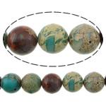 Beads bizhuteri gur i çmuar, Aqua Terra Jasper, Round, i lyer, asnjë, 10mm, : 1.2mm, :16Inç, 2Fillesat/Shumë,  Shumë