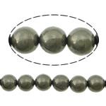 Beads bizhuteri gur i çmuar, Pirit Artë, Round, asnjë, asnjë, 8mm, : 1.2mm, :16Inç, 5Fillesat/Shumë,  Shumë
