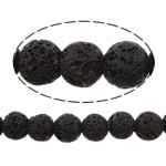 Beads Natyrore Lava, Lavë, Round, natyror, 8mm, : 1.2mm, :16Inç, 10Fillesat/Shumë,  Shumë
