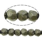 Beads bizhuteri gur i çmuar, Pirit Artë, Nuggets, asnjë, 6mm, : 1mm, :16Inç, 5Fillesat/Shumë,  Shumë
