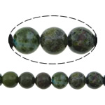 Beads bizhuteri gur i çmuar, Stone Gjelbër Rainforest, Round, natyror, asnjë, 8mm, : 1.2mm, :16Inç, 5Fillesat/Shumë,  Shumë