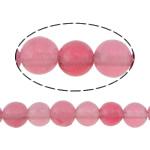 Beads Mermer Natyrore, Round, i lyer, 8mm, : 0.8mm, :16Inç, 5Fillesat/Shumë,  Shumë