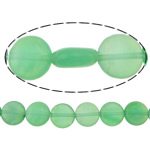 Beads Mermer Natyrore, Round Flat, i lyer, 10x10x5mm, : 1mm, :16Inç, 10Fillesat/Shumë,  Shumë
