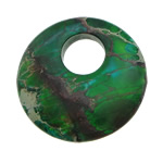 Pendants gur i çmuar bizhuteri, Impression Jasper, Round Flat, i lyer, asnjë, 25x25x4.50mm, : 8mm, 10PC/Shumë,  Shumë