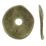 Washers Zink Alloy bizhuteri, Alloy zink, Oval Flat, Ngjyra antike bronz i praruar, asnjë, asnjë, , nikel çojë \x26amp; kadmium falas, 20x18x1mm, : 4mm, 710PC/KG,  KG