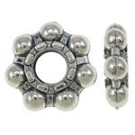 Beads Zink Alloy Spacer, Alloy zink, Lule, Ngjyra antike argjendi praruar, asnjë, asnjë, , nikel çojë \x26amp; kadmium falas, 12x3mm, : 4mm, 760PC/KG,  KG