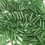 Transparent Glass Beads Seed, Seed Glass Beads, Tub, asnjë, i tejdukshëm, e gjelbër, 2x6mm, : 1mm, 15000PC/Qese,  Qese