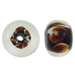 Beads dorë Lampwork, Rondelle, punuar me dorë, asnjë, asnjë, 13x9mm, : 2.5mm, 100PC/Qese,  Qese