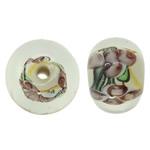 Beads dorë Lampwork, Rondelle, punuar me dorë, asnjë, asnjë, 12x8.5mm, : 1.5mm, 100PC/Qese,  Qese