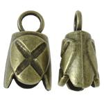 Zink Alloy Cap Fundi, Alloy zink, Shape Tjera, Ngjyra antike bronz i praruar, asnjë, asnjë, , nikel çojë \x26amp; kadmium falas, 14x25x12mm, : 5.5mm, 190PC/KG,  KG