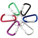 Aluminum Carabiner mbajtëse çelësash, Letër, pikturë, ngjyra të forta, ngjyra të përziera, 45x25mm, 100PC/Shumë,  Shumë